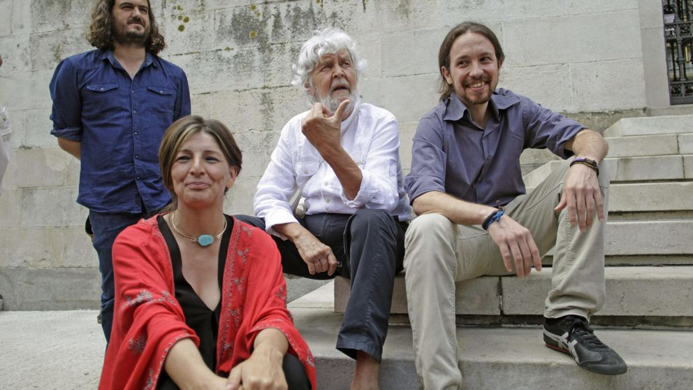 Pablo Iglesias se estrena en el 'territorio comanche' de las mareas con perfil bajo