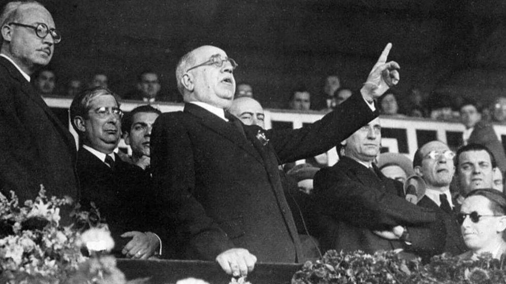 Foto: Manuel Azaña, presidente de la II República.