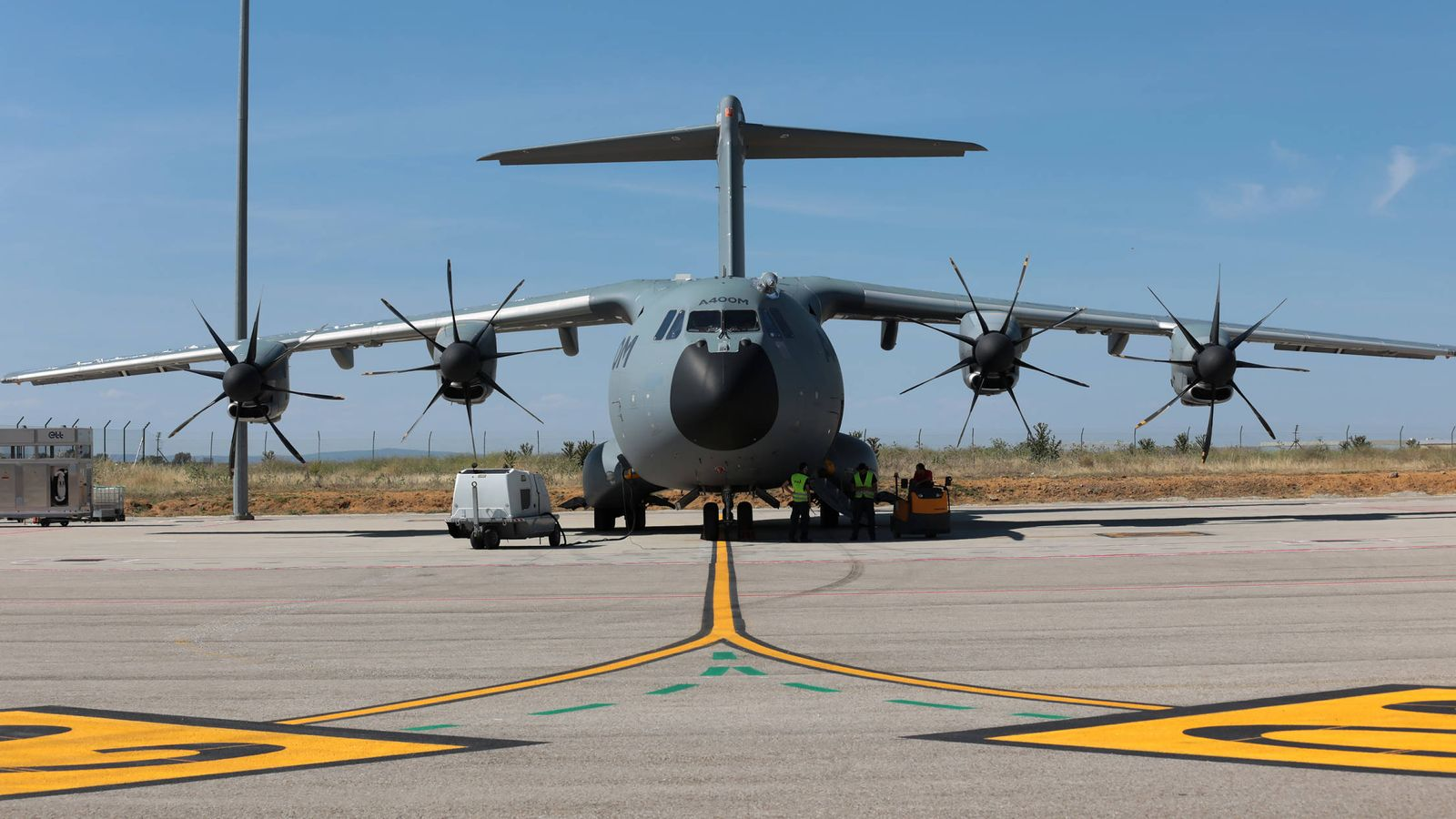 Foto: Un avión A400M, en la planta de Sevilla. (Airbus)