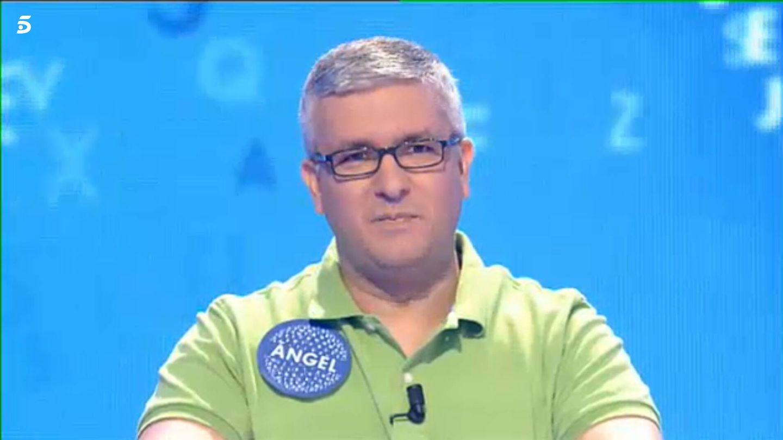 Ángel Saavedra, en 'Pasapalabra'. (Telecinco)