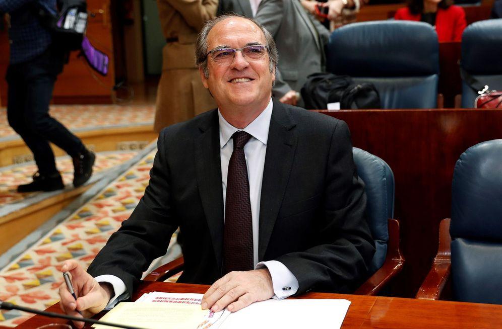 Foto: Ángel Gabilondo, portavoz del PSOE en la Asamblea de Madrid y candidato a la investidura, este 5 de abril. (EFE)