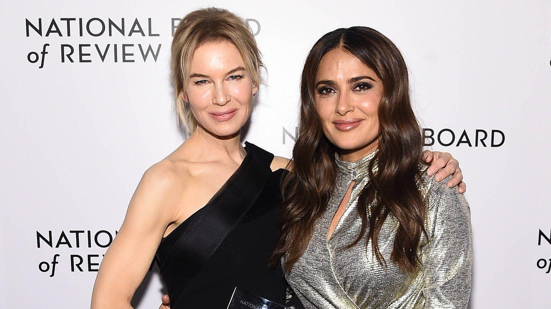 Renée Zellweger y Salma Hayek, en una foto de 2020. (Getty)