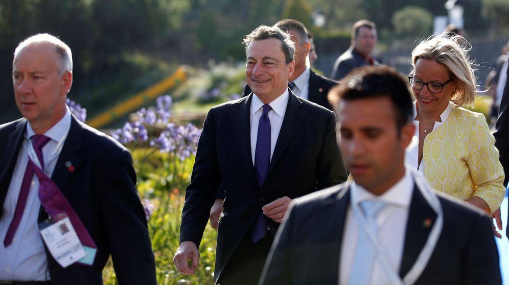Foto: Draghi llega al foro de Sintra. (Reuters)