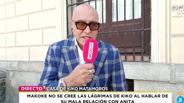 Kiko Matamoros, en 'Socialité'. (Telecinco).