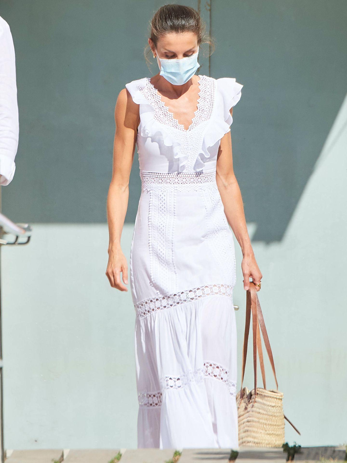 La reina Letizia en Ibiza, este lunes. (Limited Pictures)