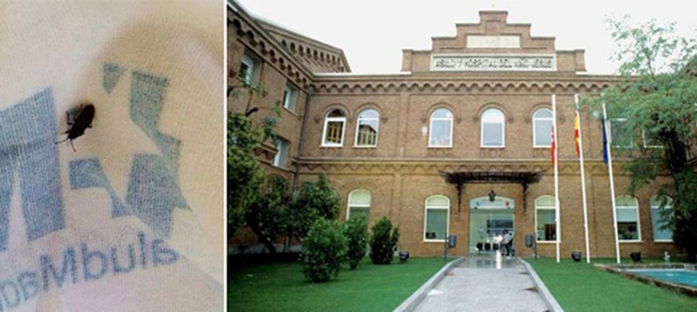 Foto: A la izquierda, la fotografía que tomó la afectada. A la derecha, fachada del hospital Niño Jesús.