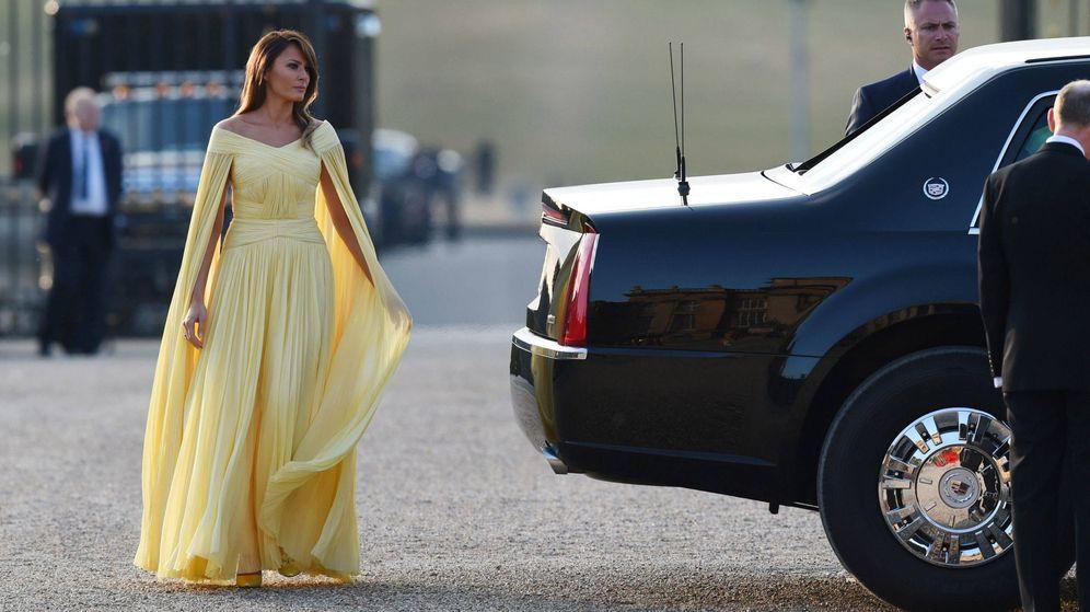 Foto: Melania Trump (la Bella) junto a la Bestia. (EFE)