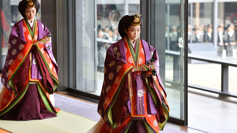 La princesa, en la ceremonia de entronización de Naruhito. (Reuters)