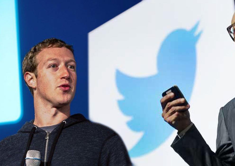 Foto: Mark Zuckerberg y Dick Costolo