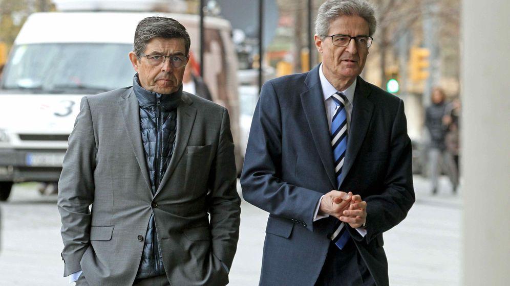 Foto: A la derecha, Pedro Buenaventura junto al también exdirectivo de Ferrovial Juan Elizaga. (Efe)