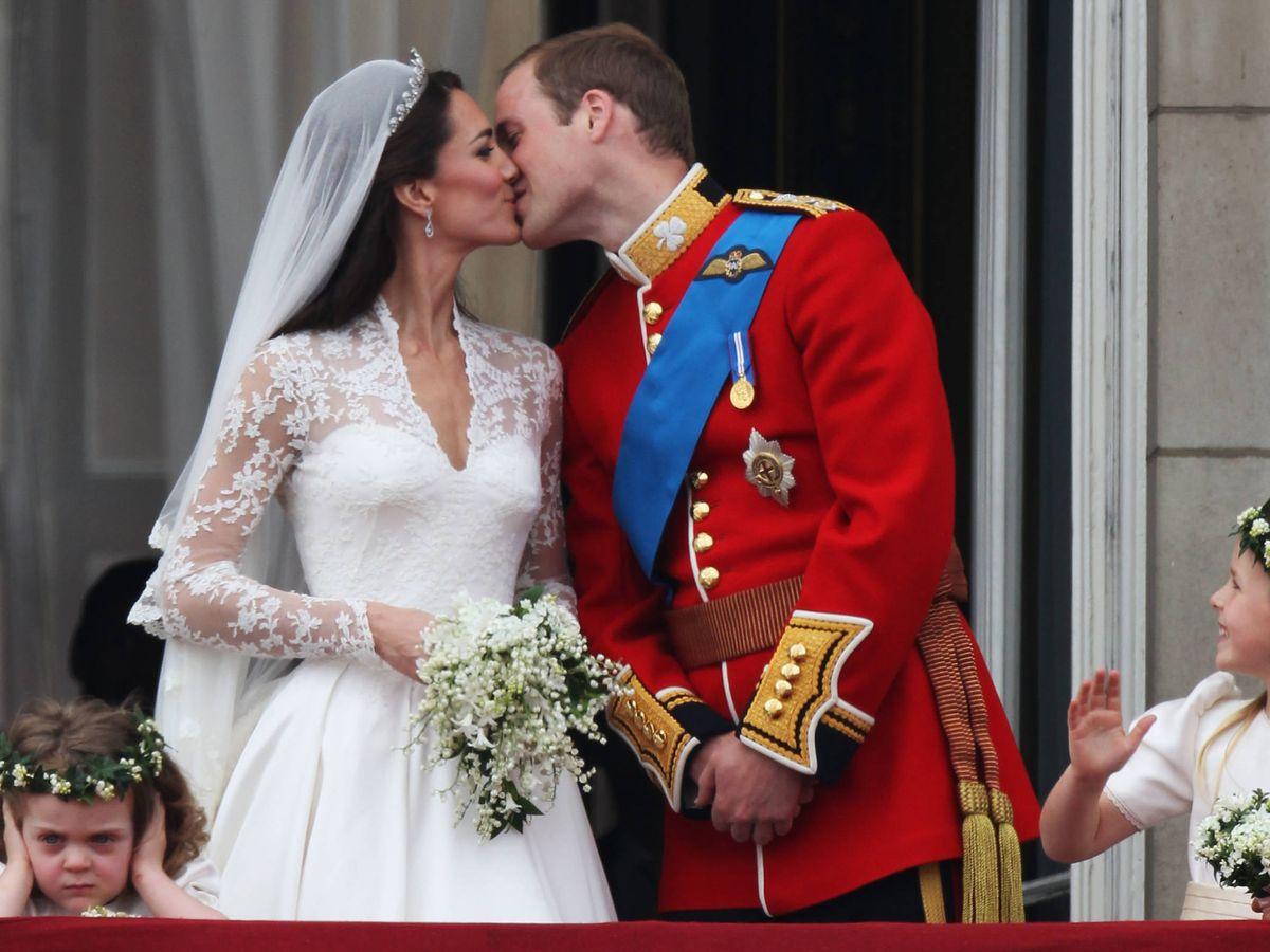Foto:  Los duques de Cambridge, recién casados. (Getty)