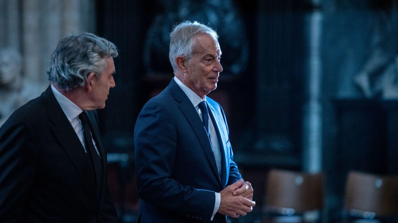 Gordon Brown y Tony Blair. (Reuters)