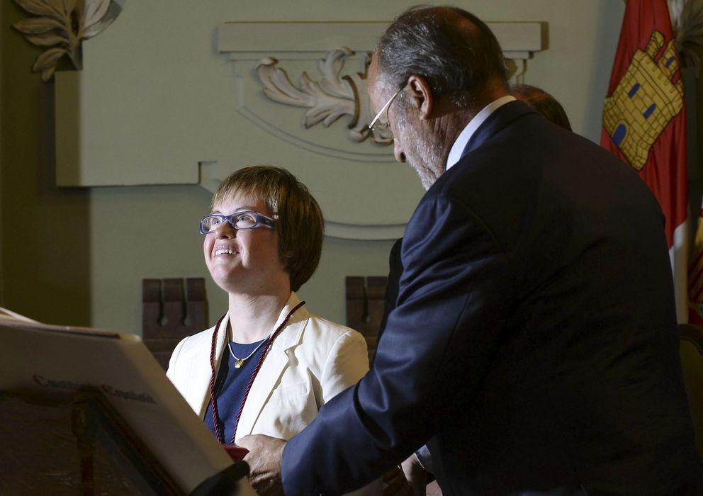 Foto: Ángela Bachiller durante su toma de posesión. (EFE)