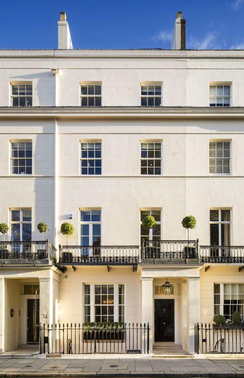 Foto: Fachada de la casa de Margaret Thatcher, ahora en venta