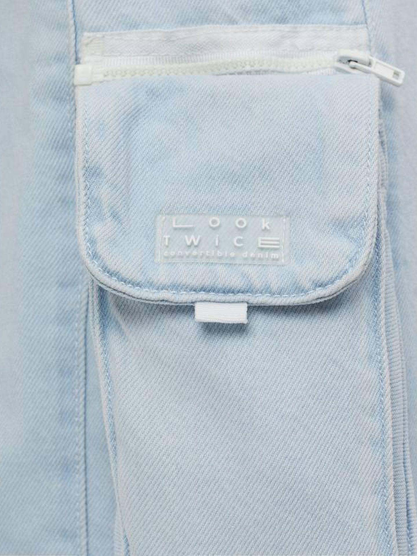 El bolso de que incluye el pantalón de Bershka. (Cortesía)