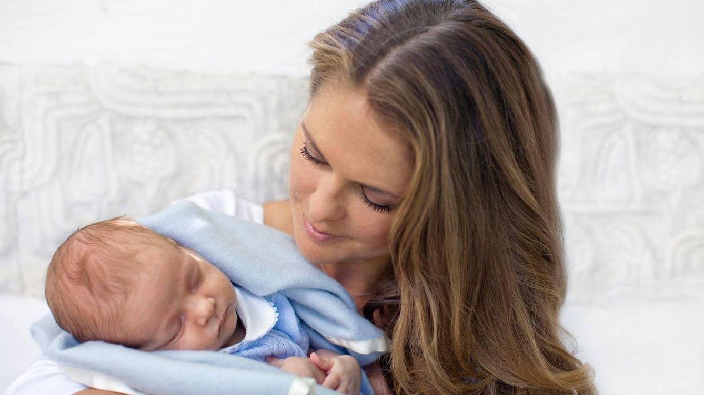 Foto: La princesa Magdalena junto a su hijo Nicolás (Kungahuset)