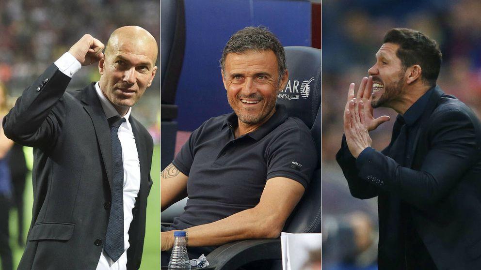 Un Simeone herido y un Zidane más maduro, a por el trono de Luis Enrique