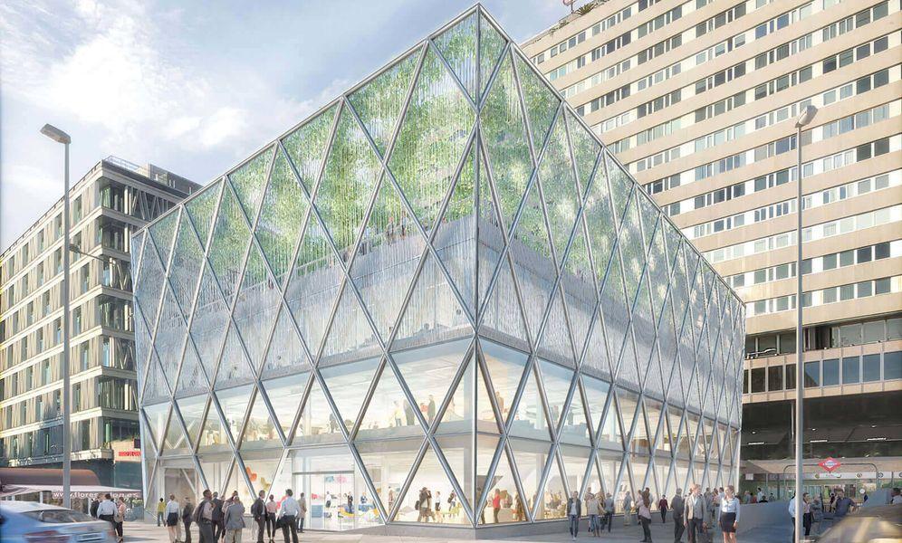 Foto: Proyección de cómo quedará el edificio Axis en la plaza de Colón.