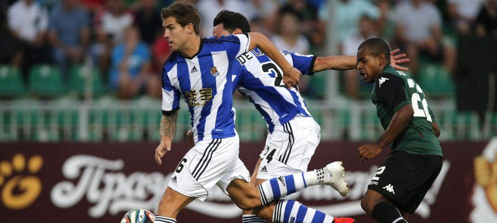 Foto: La Real Sociedad no plantó cara a su rival (EFE)