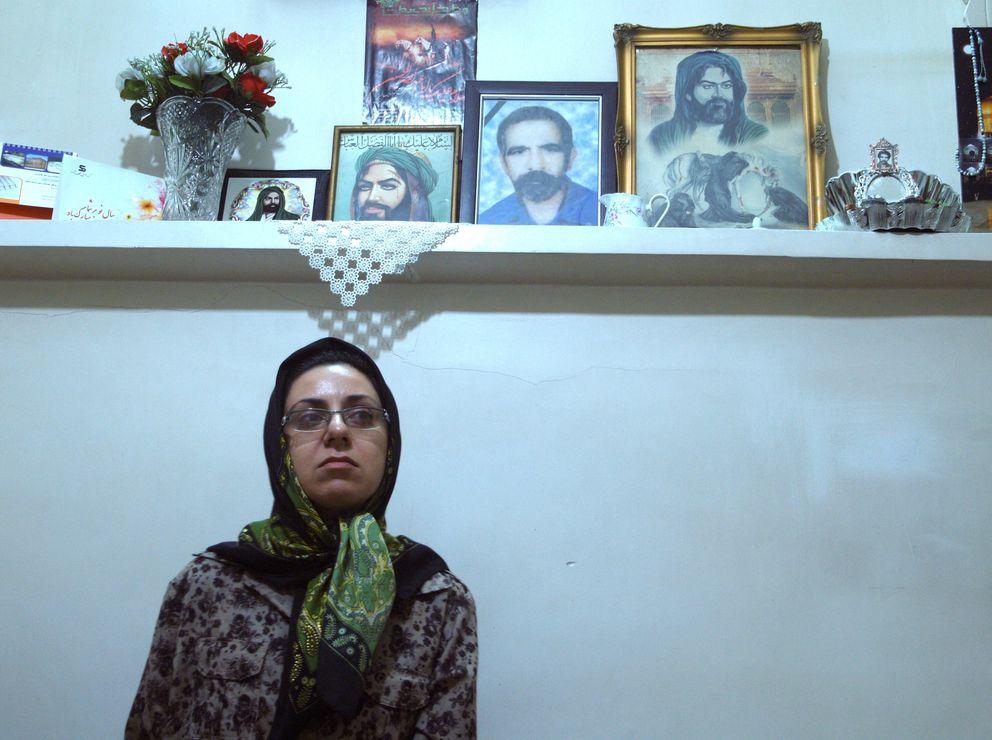 Kobra Rahmanpour en su hogar en Teherán. Esperó 12 años su ejecución (C.A.)