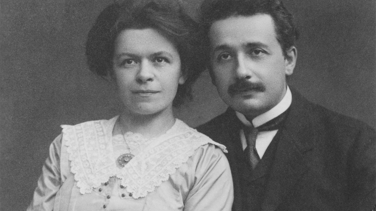 Foto: Mileva Maric y Albert Einstein, 1912