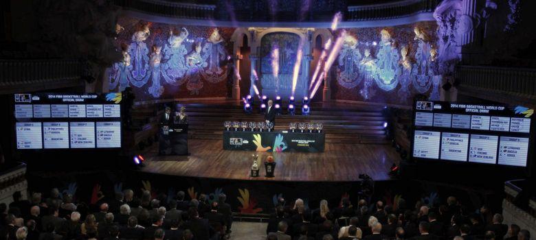 Foto: El sorteo del Mundial tuvo lugar en el Palau de la Música de Barcelona (Efe).