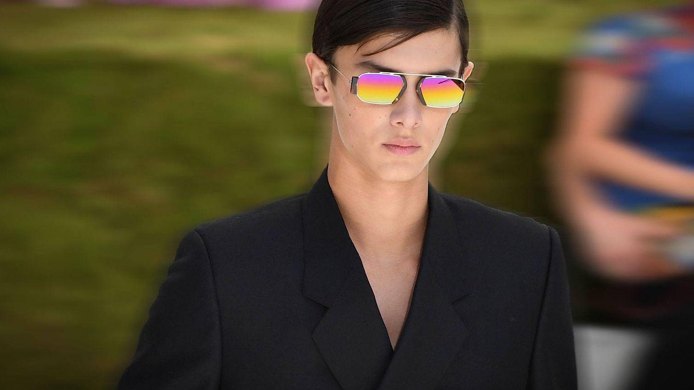 El príncipe Nicolás, desfilando para Dior. (Getty)