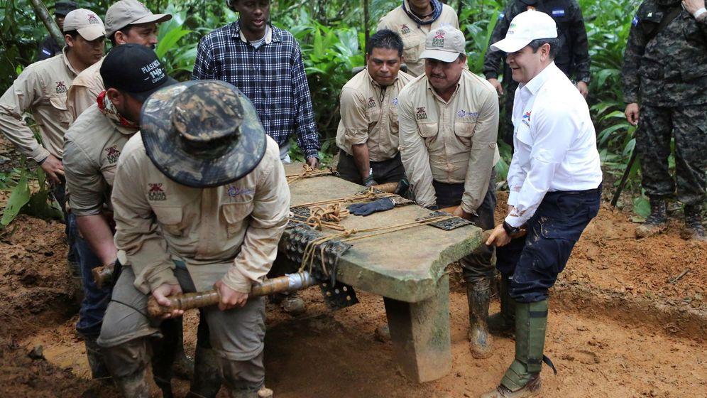 Foto: Una de las piezas arqeuológicas descubiertas en la 'Ciudad del Dios Mono'. (EFE)