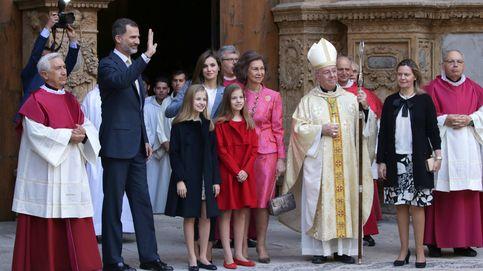 La familia real, fiel a la tradicional misa de Pascua en Palma