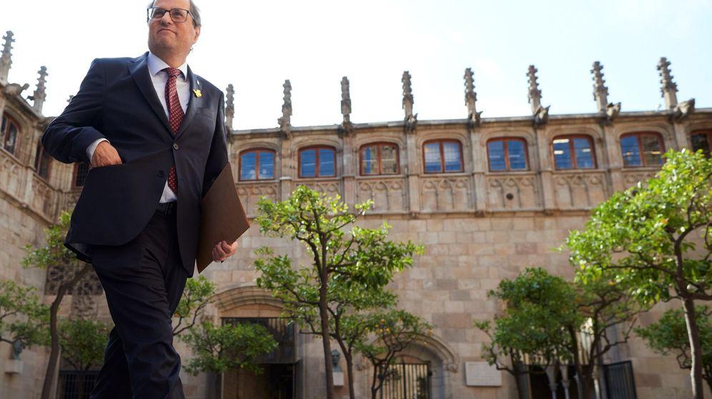 Foto: El presidente Quim Torra, en el Palau de la Generalitat. (EFE)