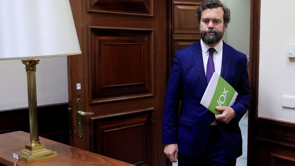 Foto: El portavoz del Grupo Parlamentario VOX, Iván Espinosa de los Monteros. (EFE)