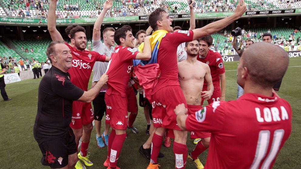El Sporting sube a Primera después de un final de locura en el Girona-Lugo