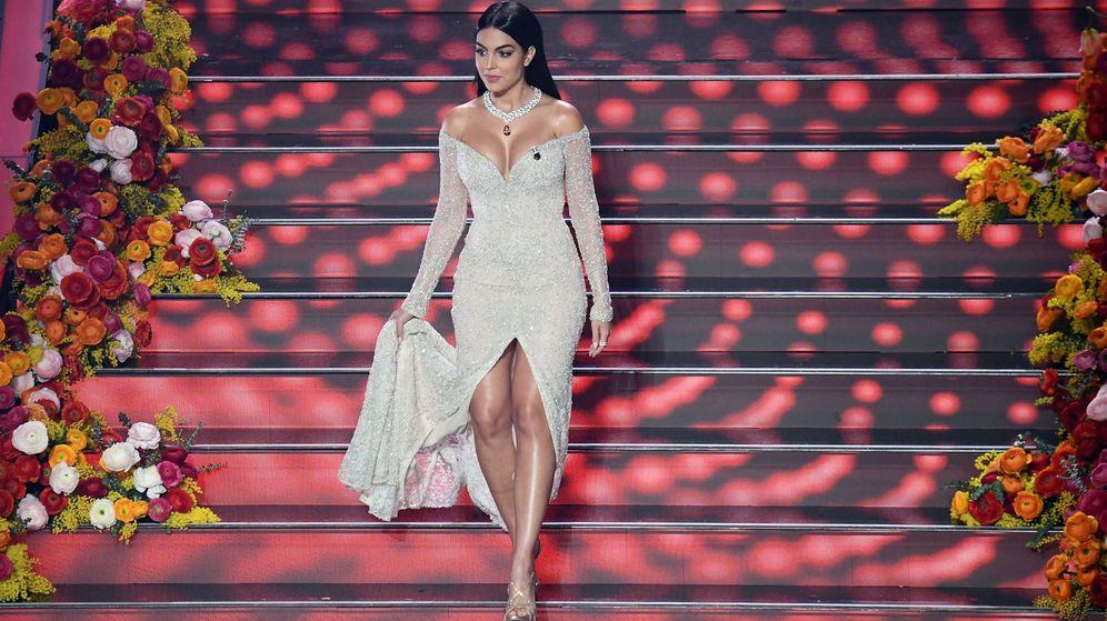 Foto: Georgina Rodríguez, en el Festival de Sanremo. (EFE)