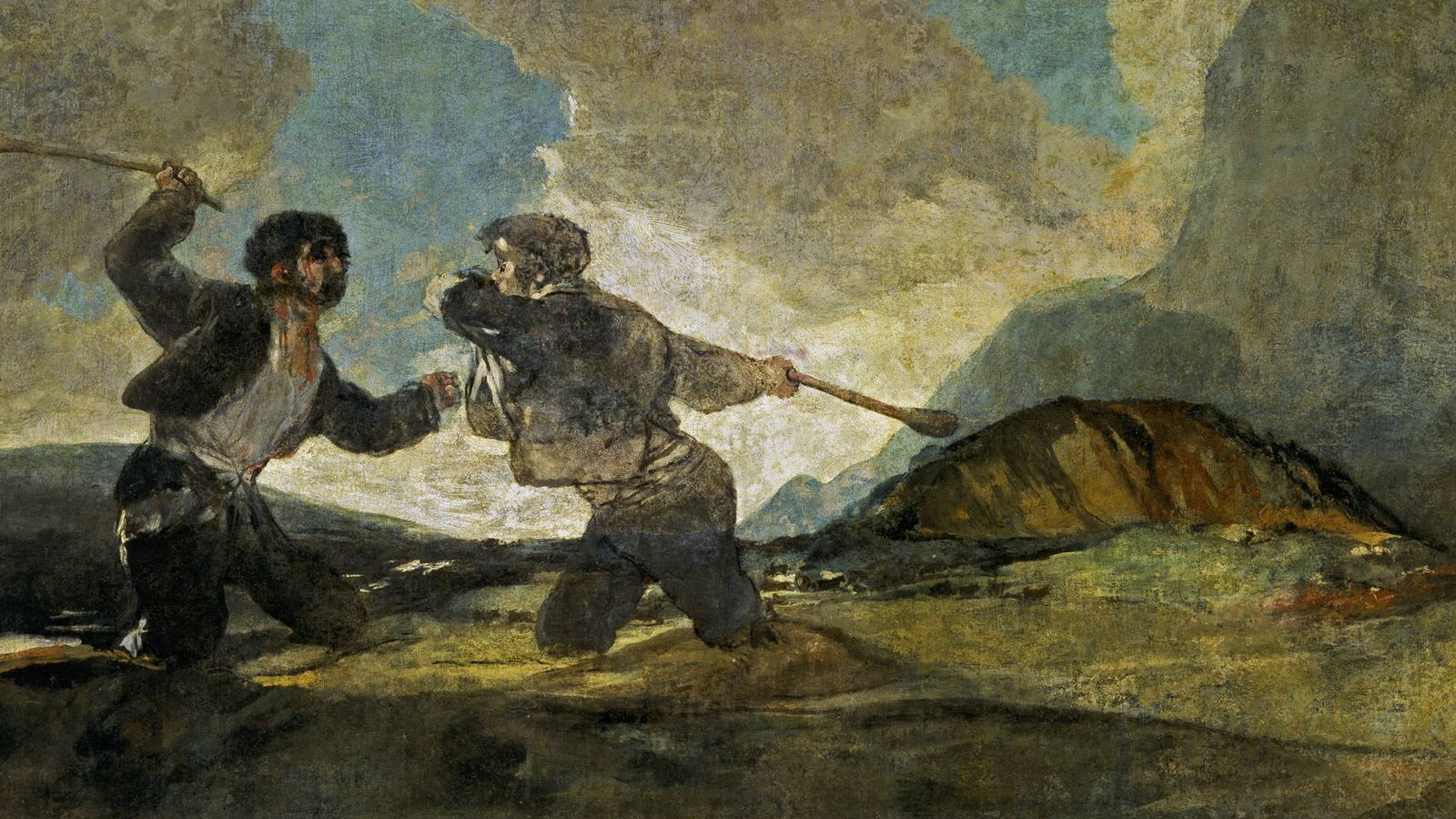 Foto: Francisco de Goya - 'Duelo a garrotazos'