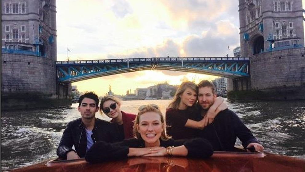 Taylor Swift y Calvin Harris, escapada a Londres con amigos