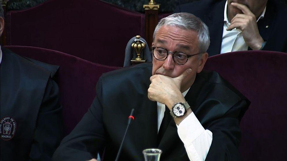 Foto: Imagen tomada de la señal institucional de Tribunal Supremo del letrado Javier Melero, abogado de Joaquim Forn. (EFE)