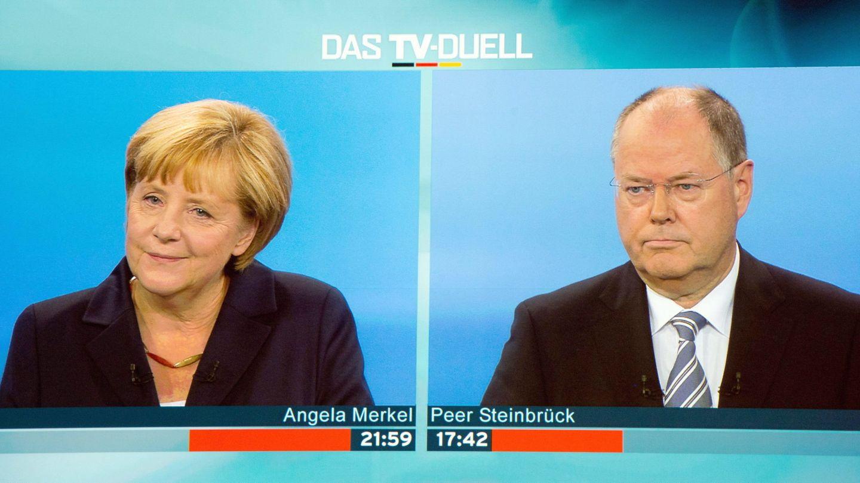 Merkel, en un debate electoral en 2013. (Reuters)