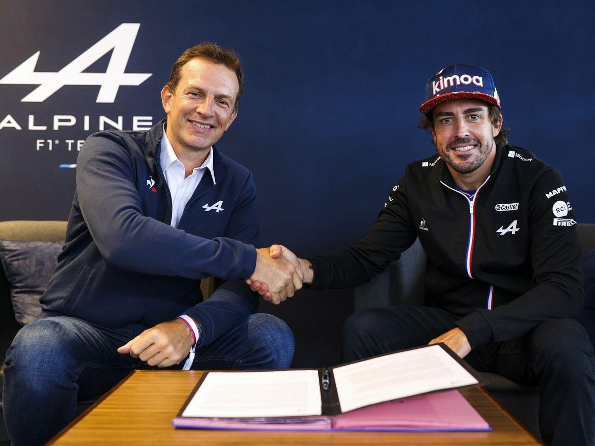 Foto: Fernando alonso prolonga su contrato con Alpine para 2022