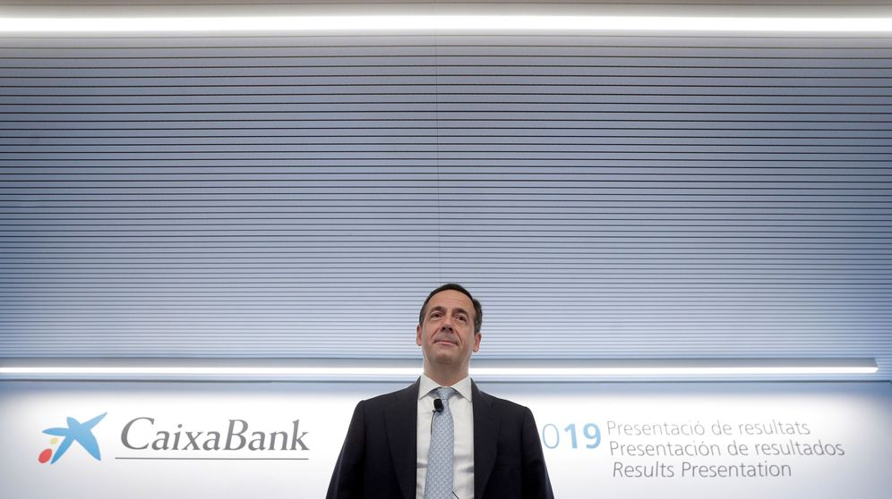 Foto:  El consejero delegado de CaixaBank, Gonzalo Gortázar, durante la presentación de resultados del tercer trimestre del 2019 (EFE)
