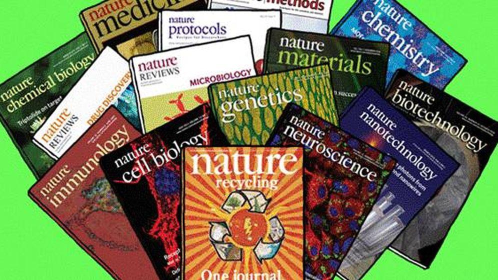 Foto: Algunas de las revistas del grupo Springer-Nature (Vadlo.com)