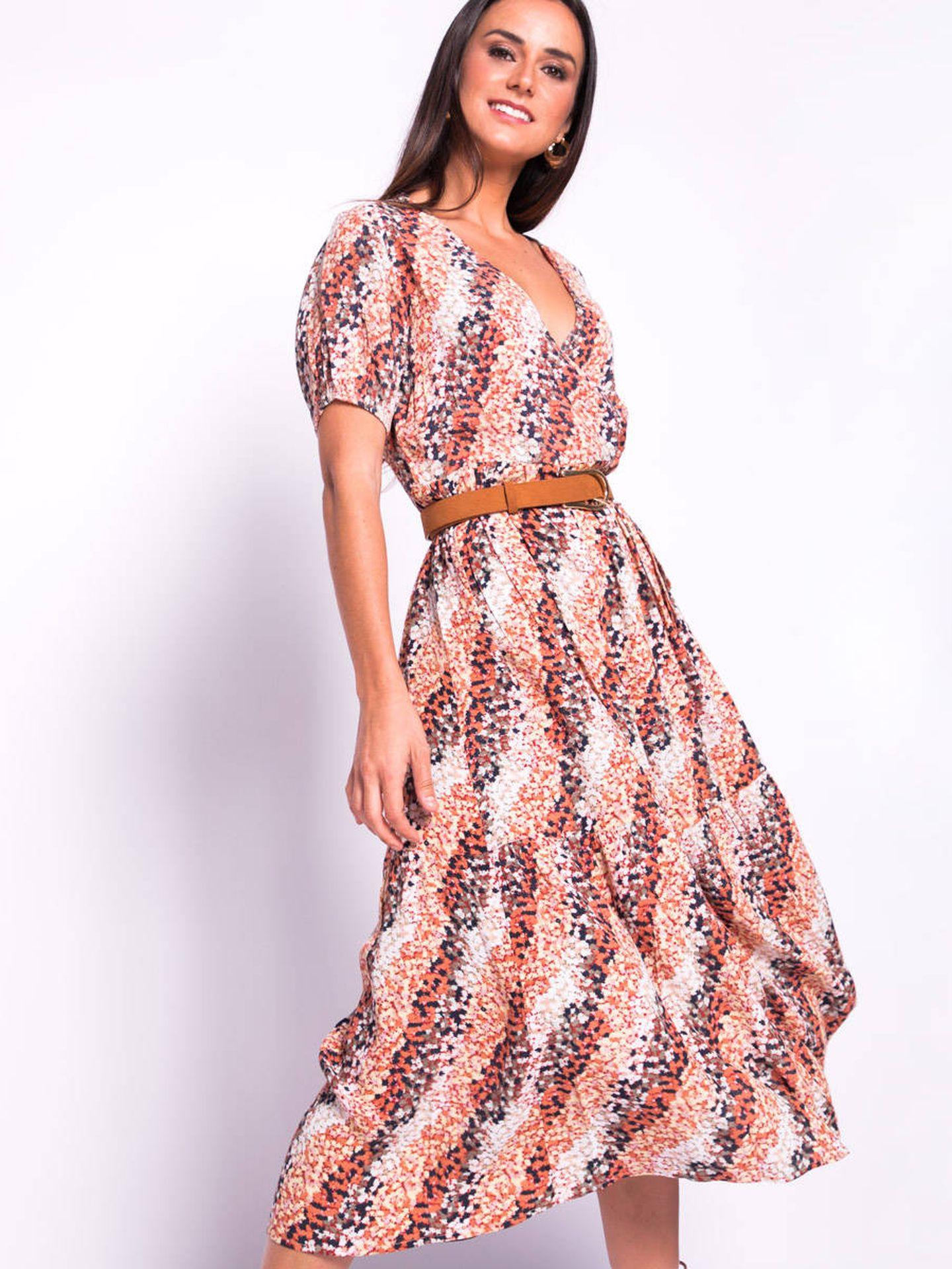 El vestido de Slow Love que lleva Sara Carbonero. (Cortesía)