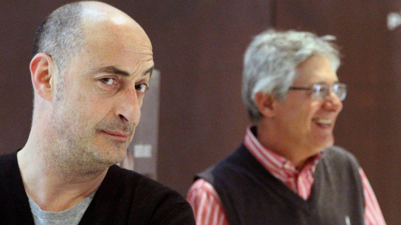Presentación de la obra 'La cena de los idiotas', con Josema Yuste y Felisuco, en 2012. (EFE)