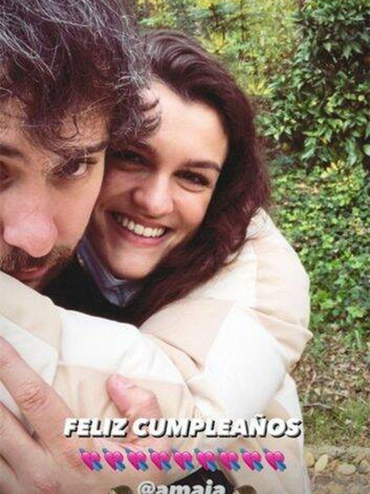 Álex de Lucas y Amaia, 'in love'. (Instagram @aalexdelucas)