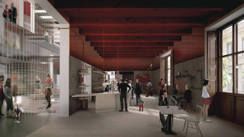 Simulación del museo Mahou elaborada por el arquitecto Héctor Fernández Elorza. (Foto: COAM)