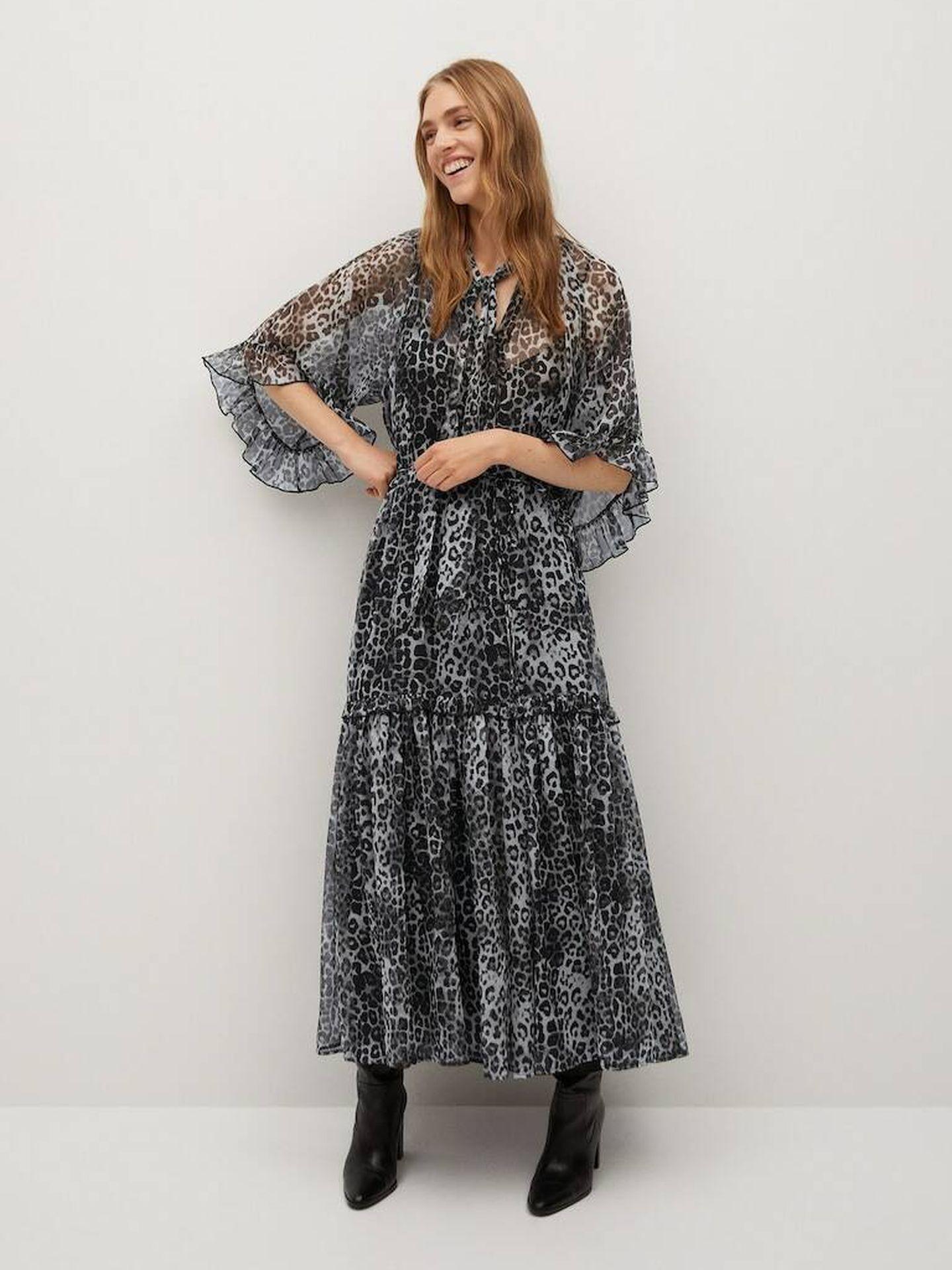 El vestido de Mango Outlet. (Cortesía)