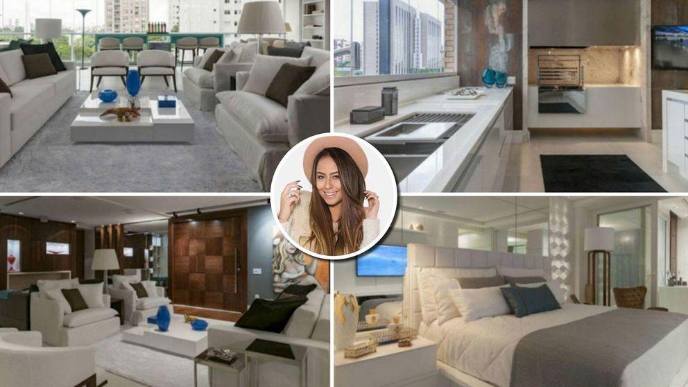 La hermana de Neymar enseña su espectacular apartamento de Sao Paulo