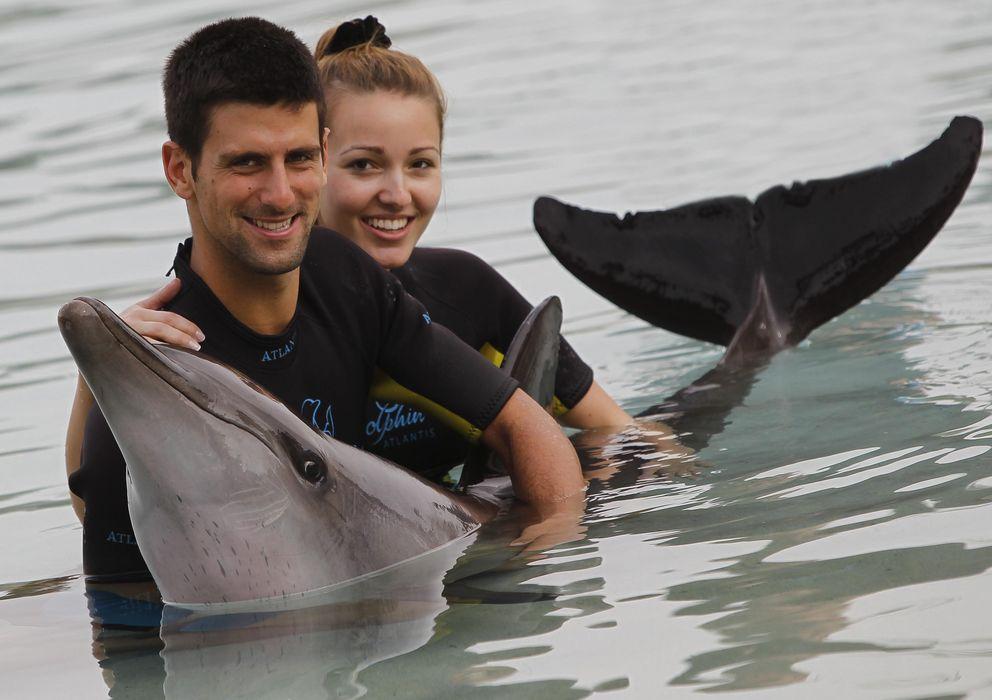 Foto: Novak Djokovic y su novia Jelena Ristic, en una imagen de archivo (I.C.)