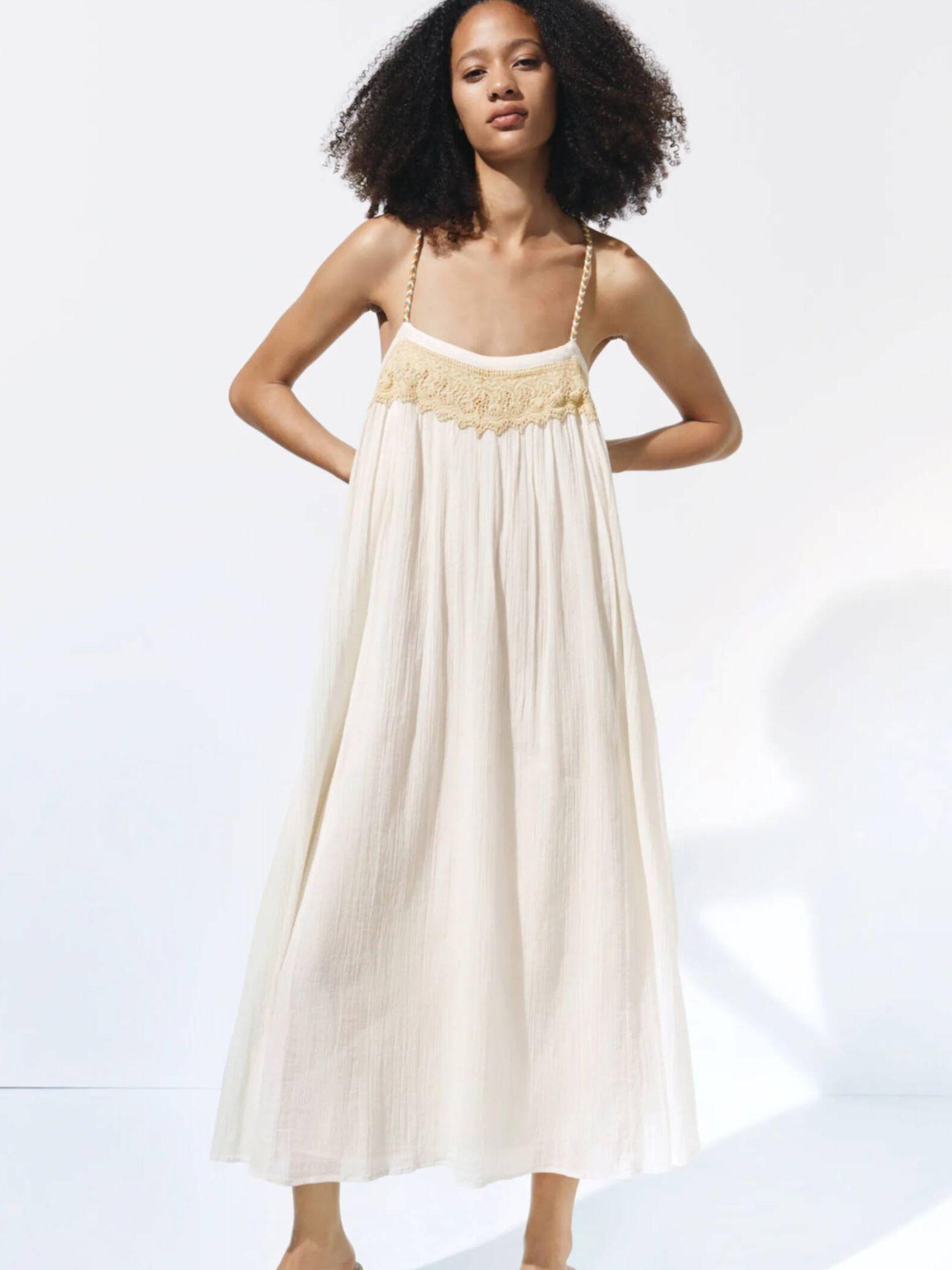 Vestidos de Zara para novias bohemias. (Cortesía)