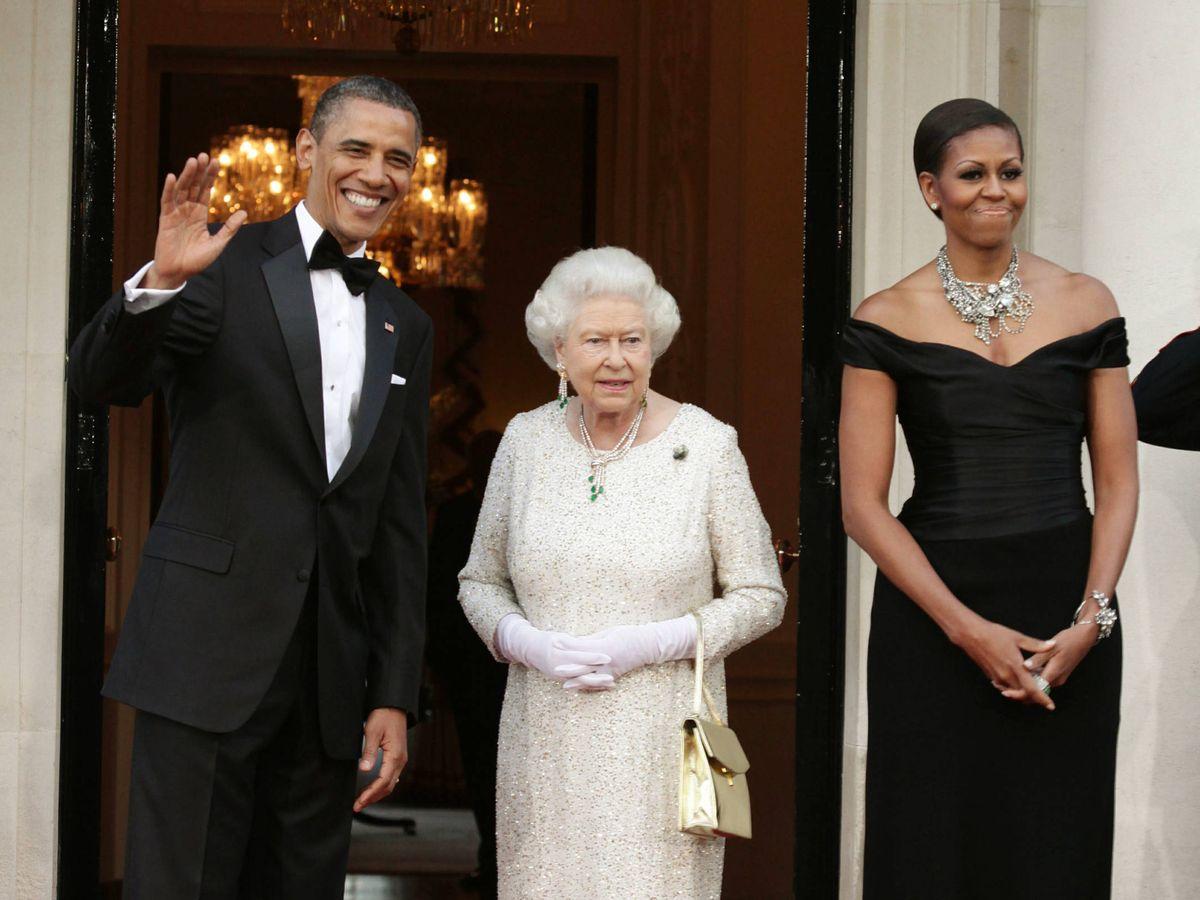 Foto:  La visita de los Obama a Isabel II en 2011. (Getty)