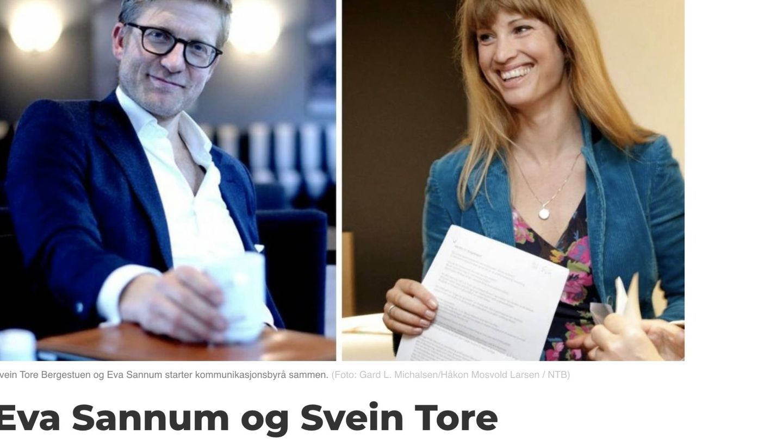 La prensa noruega se hace eco de la creación de su empresa. (Captura Medier 24)